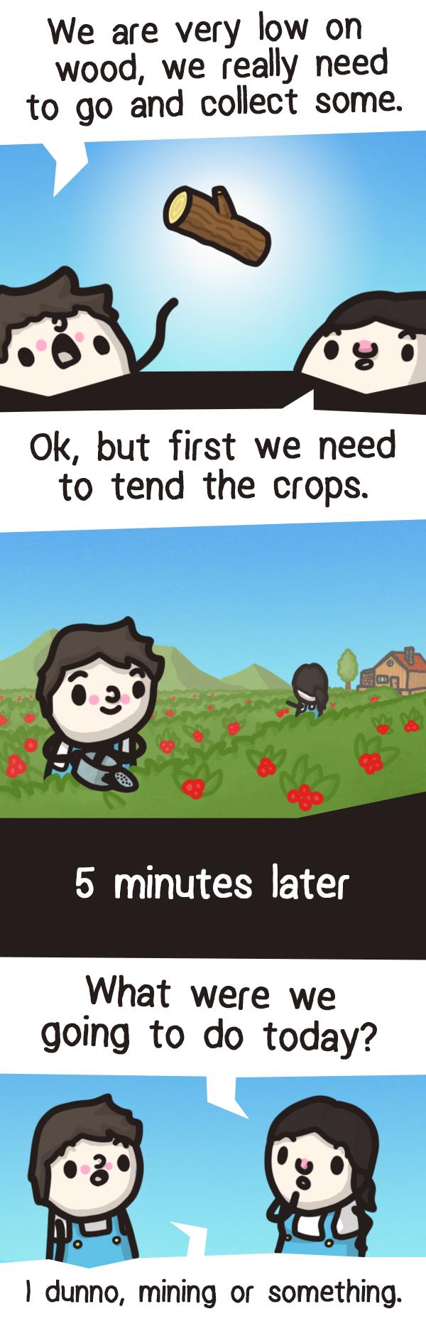 Stardew Valley - Forgetful farming